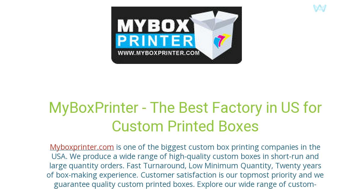 myboxprinter - L'agence